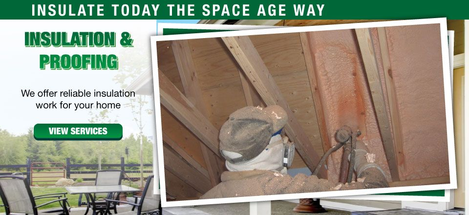 Insulation & Proofing | We offer reliable insulation work for your home | View Services | Insulate Today the Space Age Way